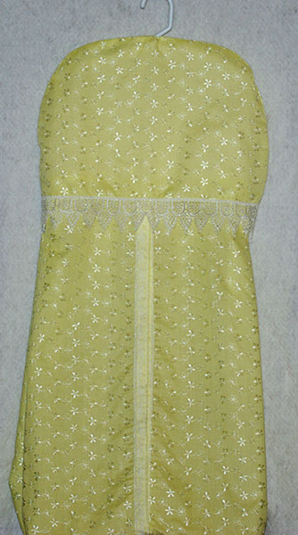 Yellow Embroidered Diaper Stacker