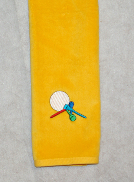 Golf Tees Yellow Golf Towel